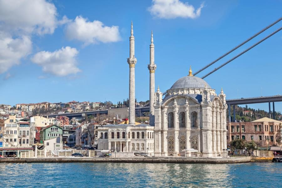 View on Ortakoy Mosque from Bosphorus in Bosphorus & Golden Horn Cruise by Travel Tips Turkey